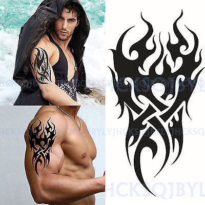 High Men's Temporary Tattoo Waterproof Totem Body Arm Leg Art Stickers Removable