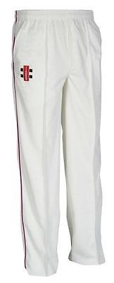 Gray-Nicolls Matrix Navy Trim Cricket Trousers Sizes:( 2XS - 3XL)