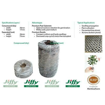 36mm XL Forestry Jiffy® Peat Pellets. Ideal for plant seed & cutting propagation
