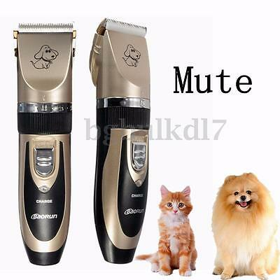 Professional Pet Cat Dog Hair Trimmer Clipper Fur Shaver Set Grooming Mute Kit