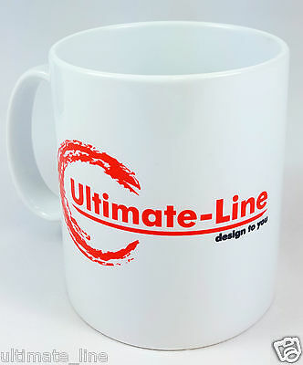 Personalised Mug Custom Printed Company Logo TEXT - Perfect for events / office