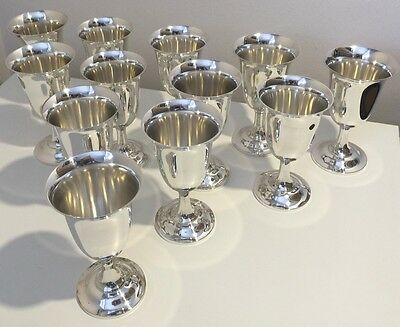Lucille Ball Owned These 12 Fisher Solid Sterling Silver Goblets *unique Item*