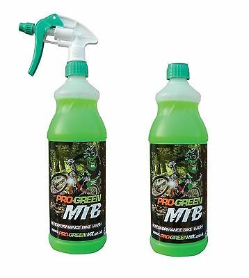 2 x Pro-Green MX Bike Motorcycle Motocross Cycle MTB Cleaner Wash 2 x 1 Litre