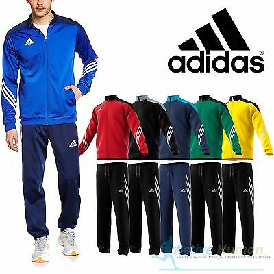 Adidas Mens Full Mens Zip Tracksuit Jogging Bottoms Top Set 3 Stripe Size S- XXL