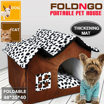 Foldable Warm Mat Cushion Pad Bed House Home for Pet Dog Cat Portable Large