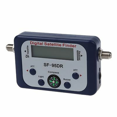 Digital LCD Satellite Signal Meter Finder Dish with FAT SF-95DR