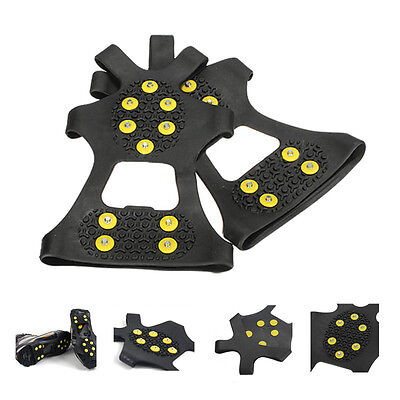 Over Shoe Studded Snow Grips Ice Grips Anti Slip Snow Shoes Crampons Cleats W1
