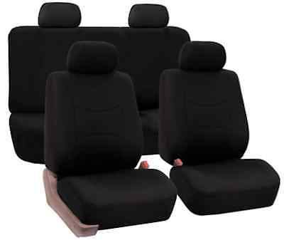 FH Group Flat Cloth Seat Covers - Black FH-FB050