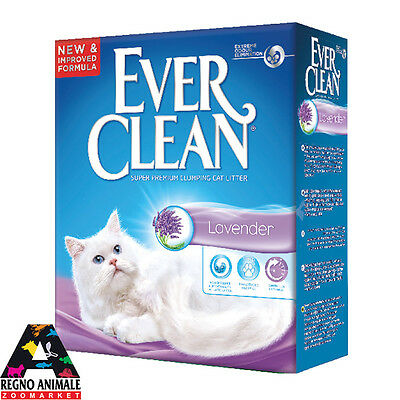 lettiera agglomerante per gatto EVER CLEAN LAVANDA 6L cat litter lavander