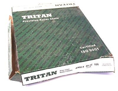 New Tritan 80-1C Roller Chain 10Ft. 80-1C
