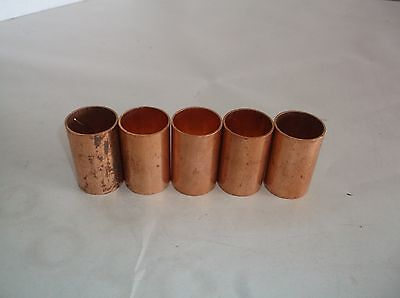NEW LOT OF 5 NIBCO C601 1 Coupling without Stop, Wrot Copper, 1 in. (B77T)