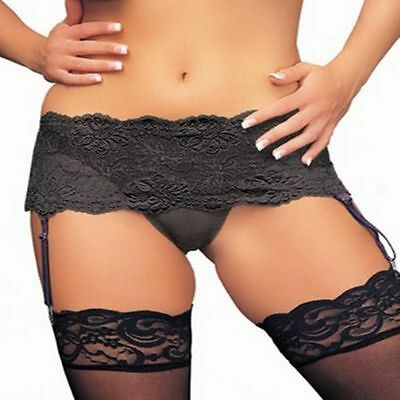 New Lace Suspender Garter Belt STOCKINGS ALL SIZES & COLOURS
