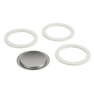 Bialetti Stainless Steel Gasket Filter Plate Replacement Parts 6-Cup Venus Mu...