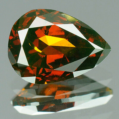 0.95 cts. Certified Modified Pear Cut SI2 Fancy Red Loose Natural Diamonds 7731