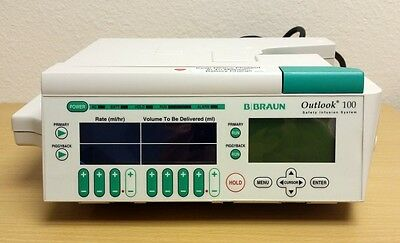 B Braun Outlook 100 Pump. Patient Ready with 90 day Warranty