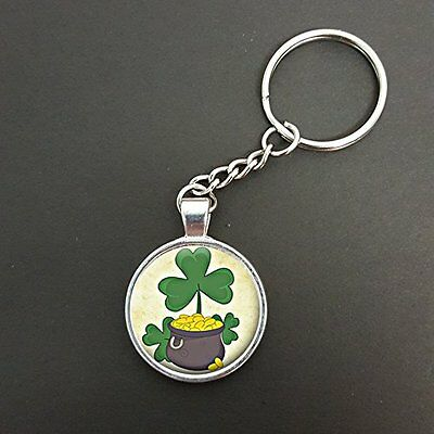 Keyrings & Keychains Good Luck Four Leaf Clover & Horseshoes Pendant On A Split Ring Keyring Ideal Birthday Gift N550 Luggage