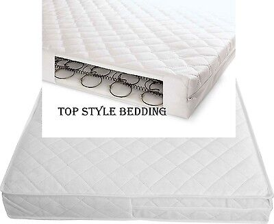 Baby Cot Bed SPRUNG MATTRESS Quilted 140 x 70 cm SPRING Memory Foam