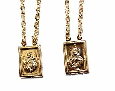 Scapular 18k Gold Plated - Escapulario 18k Gold Plated 24 inch - Scapulary