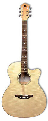 BC Rich BCR3N Acoustic Electric Guitar with Active Fishman Pickup System