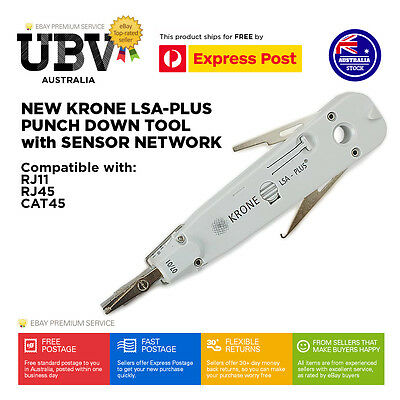 New RJ45 LSA-Plus Punch Down Tool with Sensor Network LAN for Krone | CAT5/6 AUS