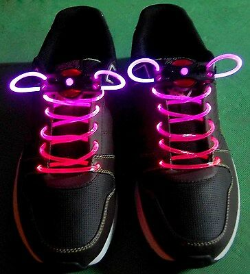 Hot Light-Up LED Flash Waterproof Glow Shoelaces Strings Party Disco Lots