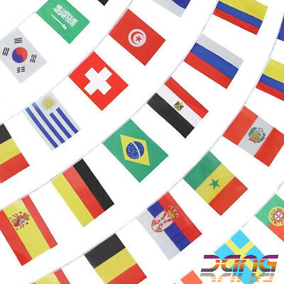 2016 Olympic Brazil Rio Games Bunting 8m with 24 Multi-Nation Flags Olympics