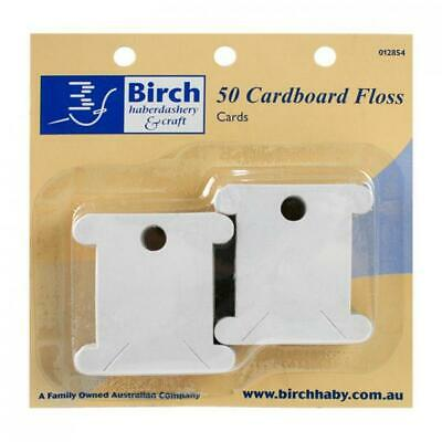 Birch Cardboard Floss Bobbins -  50 pack