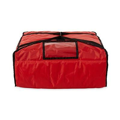 Proserve Rubbermaid Nylon Professional Pizza Delivery Bag Food Storage Red New