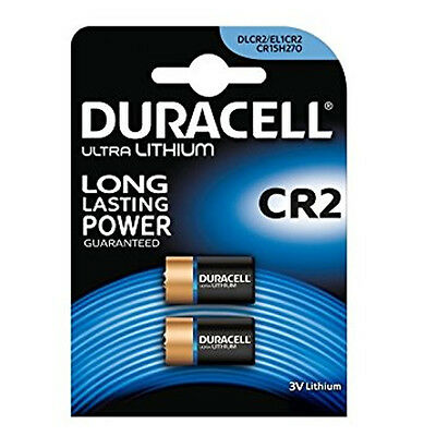 2 x DURACELL CR2 BATTERY LITHIUM 3V ULTRA PHOTO BATTERIES CR15270 DLCR2 ELCR2