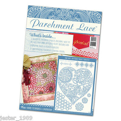 PARCHMENT LACE MAGAZINE - Issue 4 + Free Butterfly Heart Tapestry Grid