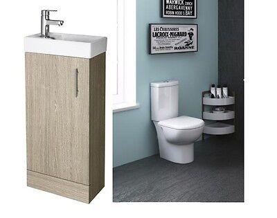 Premier Minimalist Compact Close Coupled Toilet and Cloakroom Suite