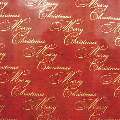 Red Merry Christmas, Wrapping paper, counter roll, gift wrap, various sizes