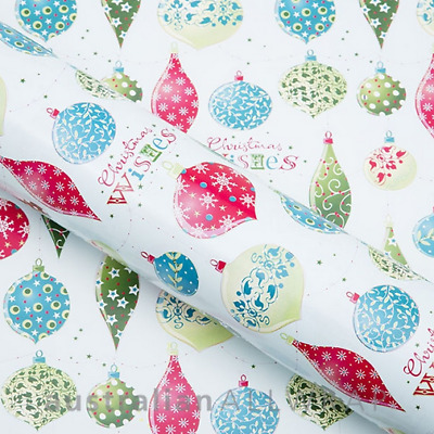 Christmas Baubles Wrapping paper, counter roll, gift wrap