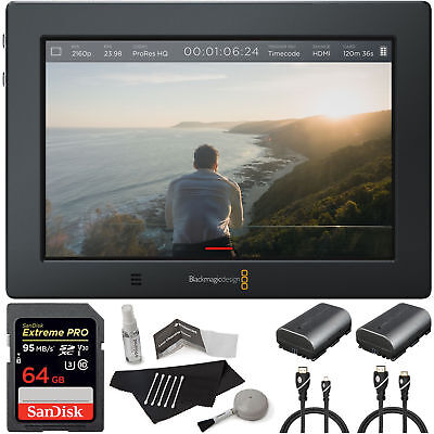 "Blackmagic Design Video Assist 4K 7"" High Resolution Monitor Ultra HD Recorder"