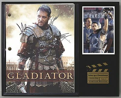 The Gladiator - Reprinted Autograph Movie Script Display - USA Ships Free