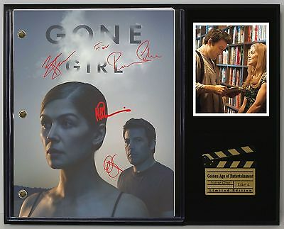 Gone Girl - Reprinted Autograph Movie Script Display - USA Ships Free Priority