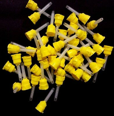 Defend T-Style Mixing Tips Yellow 4.2mm #VP-8105T  48Tip/ Bag