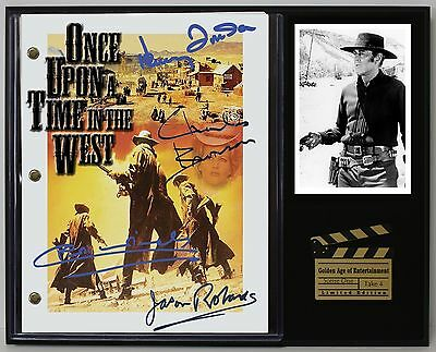 Once Upon A Time In The West - Reprinted Autograph Movie Script Display