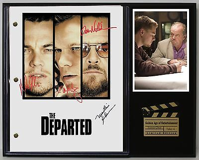 The Departed - Reprinted Autograph Movie Script Display - USA Ships Free