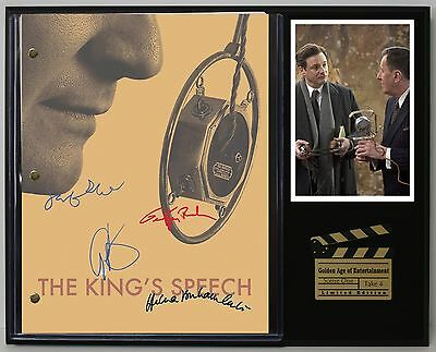 The King's Speech - Reprinted Autograph Movie Script Display - USA Ships Free