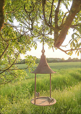 Hanging Vintage Garden Ornament Metal Bird Feeder Chain Oriental