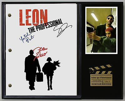 Leon The Professional - Reprinted Autograph Movie Script Display USA Ships Free
