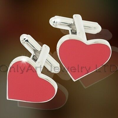 Bulk lot - 10 pairs of Valentine Gift - Heart Shaped Cufflinks - Bulk lot