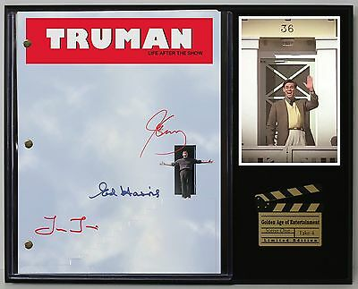 Truman Life After The Show Reprint Autograph Movie Script Display USA Ships Free