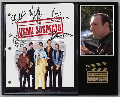 The Usual Suspects - Reprinted Autograph Movie Script Display - USA Ships Free