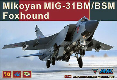 AMK Models AvantGarde  model kit 1/48 Mikoyan MiG-31 BM/BSM Foxhound #88003