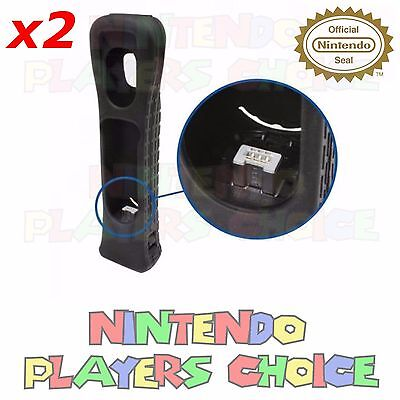2X Motion Plus Adapter Sensor + Silicone Case for Nintendo Wii Remote Controller
