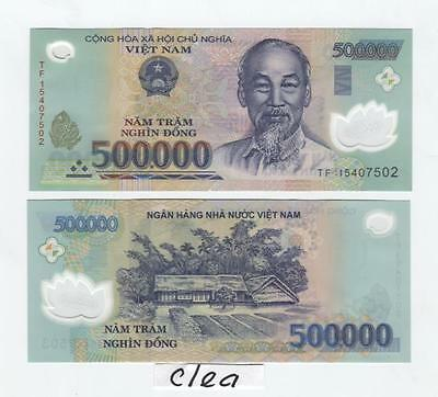 500,000 Vietnam Dong UNCIRCULATED Polymer Banknote 1 x 500000 NEW Currency VND