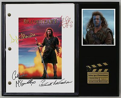 Braveheart - Reprinted Autograph Movie Script Display USA Ships Free Priority