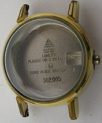 worn Lady Omega Watch Case 562 005 20 microns gold plated for parts ...